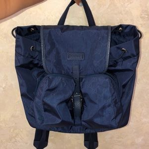 NAVY AUTHENTIC GUCCI NYLON BACKPACK NWT